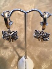 Butterfly Sterling Silver and 18k Yellow Gold  With Cubic Zircon