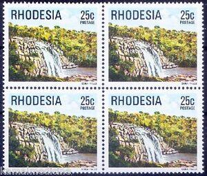 Rhodesia 1978 MNH Blk of 4, Goba Water Falls