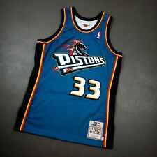 100% Authentic Grant Hill Mitchell & Ness 98 99 Pistons Jersey Size Mens 40 M