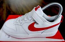 Nike Court Borough bajo chicos entrenadores, blanco/rojo-tamaño 2