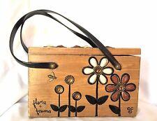 Vintage 60's Enid Collins (Of Texas) Flora & Fauna Box Purse - Good Condition