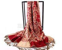 New Fashion Women's Long Soft Floral Pashmina Shawl Wrap Stole Cashmere Scarf