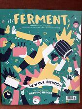 (Unused/Unread)Brand New Ferment Beer Magazine. Issue 61. Brewing Heroes.RRP4.99