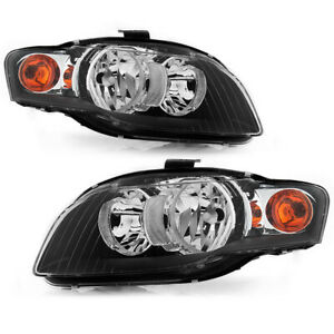 06-08 Audi A4 S4 RS4 [B7 Typ 8E 8H] Black Housing Driving Headlight Signal Lamp