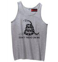 Don't Tread On Me Gadsden Flag Mens Tank Top Gun Rights Gun Sleeveless Shirt Z3