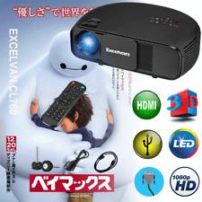 1080P 3D Video Projecteur LED Portable pour PC iPhone Smartphone Jeux Video Film