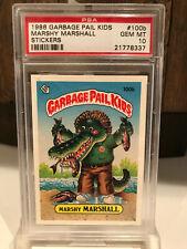 Garbage Pail Kids Series 3 Marshy Marshall 100b PSA 10 Gem Mint 1986 Topps Rare