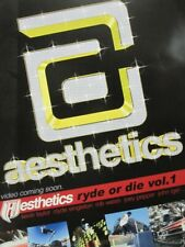 Aesthetics Skateboard 2001 Ryde Or Die Vol 1 promo poster Flawless New Old Stock