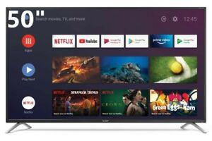 "TV SHARP AQUOS 50BL2EA 50"" SMART UHD 4K Televisore HDR DVB-T2 WiFi ANDROID 9"