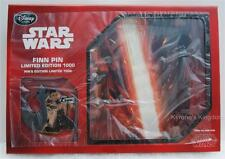 DISNEYSTORE.COM STAR WARS THE FORCE AWAKENS FINN REBEL BOXED PIN LITHO LE 1000