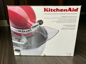 KitchenAid Clear Plastic Pouring Shield Attachment for Stand Mixer Bowl KPS2CL