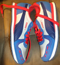 New Puma Kids Cabana Racer SL Jr  Shoes Sneakers Blue/Red Boy 3 youth fit 2
