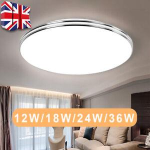 LED Ceiling Light Round Panel Down Light Bathroom Kitchen Living Room Wall Lamp