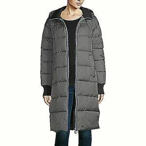 nwt $129 arizona winter grey puffer heavyweight commuter coat jacket LARGE