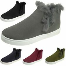 Faux Suede Flats Trainers for Women