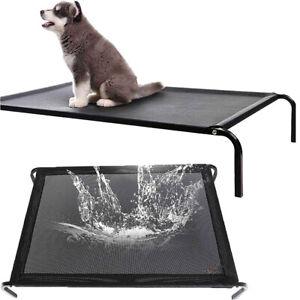 Elevated Dog Bed Cot Teslin Mesh Pet Cat Indoor Outdoor Portable Hammock Travel