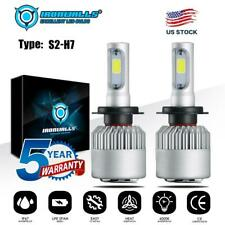 2x H7 CREE LED Headlight Kit 2000W 6000K 300000LM Replacement Bulbs  High Power