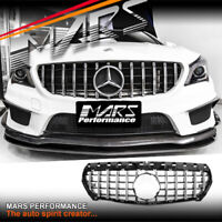 GT Style Chrome Bumper Grille Grill for Mercedes-Benz CLA C117 X117 & AMG CLA45