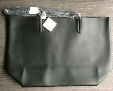 Macys Faux Leather Tote Shopper Bag. Black 47 x 31cm (£24.95RRP!!)