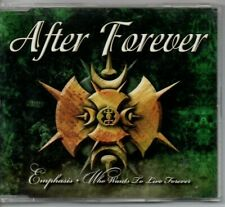 """AFTER FOREVER - """"EMPHASIS / WHO WANTS TO LIVE FOREVER""""  (FLOOR JANSEN 4 TRACKS)"""