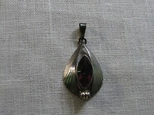 Anhänger Antik Silber mit Amethyst