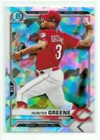 2021 Bowman HUNTER GREENE Chrome ATOMIC REFRACTOR Reds BCP-127