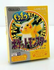 Pokémon Jaune - Nintendo Game Boy GB JAP Japan complet