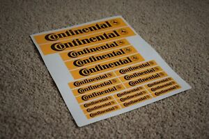 Continental Tyre's Wheel Cycling Cycle Push Bike Motorbike Car Decals Stickers