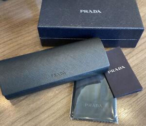 New in Box Authentic Prada EYEGLASSES or SUNGLASSES Black case (free shipping)