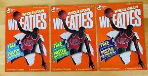 1989 Michael Jordan Wheaties Chicago Bulls 3 Part Poster Set Makes Large 24x48