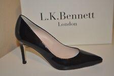 0323290bda7b  325+ L.K. Bennett FLORETE BLACK Patent Pointy Toe Pump Heel Shoes 36 EU  5.5 US