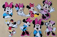 Minnie Mouse Selection Card Making Toppers - Die Cuts 8 Pieces Embellishments