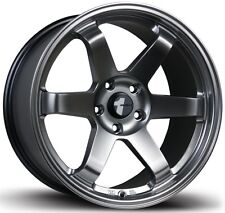 (1) Avid1 AV06 17X9 Rims 5x114.3 +42 Hyper Black Wheel Rim