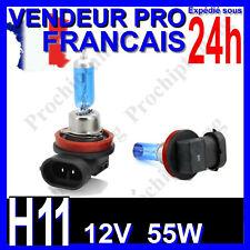 AMPOULE H11 XENON 55W LAMPE POUR VOITURE FEU SUPER WHITE PHARE 12V PLASMA 6500K