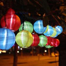Chinese Lantern LED Solar String Lights (20, Multi Color), Solar Garden  Light