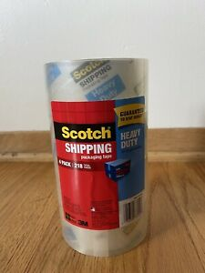 Scotch 1.88 in. x 54.6 yds. Heavy Duty Shipping Packaging Tape (4-Pack) USA 🇺🇸
