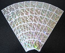 100 SQUARE HOLOGRAM SCRATCH OFF STICKERS MAKE YOUR OWN SCRATCHIES BABY SHOWERS