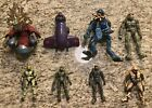 8 Halo Action Figures Loose Lot With Vehicle. 3 Master Chief Figures, 2 Elites. For Sale