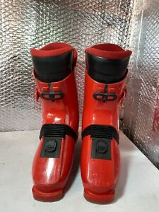 Red N955 Nordica Ski Boots Uk 9.5 27.5 310mm Rear Downhill Retaining System
