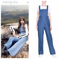 Australian Designer Macgraw Denim Jumpsuit Sz S