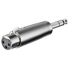 XLR Adaptateur embrayage 3-pol.xlr>6,35mm fiche stéréo