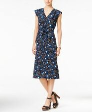 Tommy Hilfiger NEW Womens Cap Sleeve Floral Print A Line Dress Size L Large