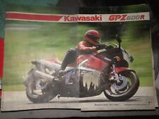 BROCHURE CATALOGO SALES KAWASAKI GPZ 600 R - ANNI 80 - RT