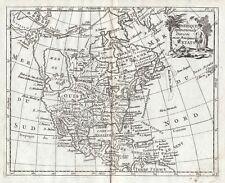 1781 Amerika Nordamerika Mexiko Mexico North America map Kupferstich Laporte