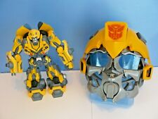 "TRANSFORMERS~BUMBLEBEE VoiceMixer HELMET(2002) & 11"" Talking/Lights FIGURE(2006)"