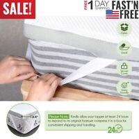 2.5'' 2-Layer Comfort Gel Memory Foam Mattress Topper-Size Twin Full Queen King