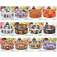 5 Yards 22mm Halloween Single Sided Grosgrain Ribbon Craft Party Spider Pumpkin