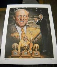 Ted Watts Big 8 Football Signed Artist Proof Vintage # 49 of 100