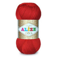 Yarn  ALIZE DIVA - microfibra 100% ,100g, 350m Color selection