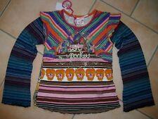 (305) NOLITA POCKET Girls Mélange des matériaux Shirt + Volants & logo paillettes pression gr.104